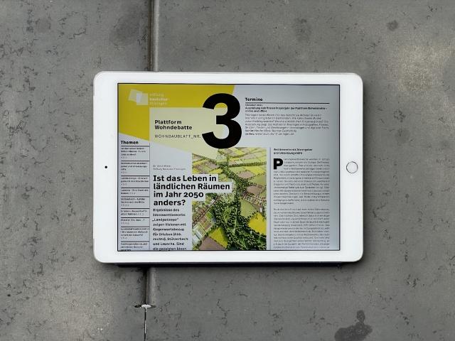 Wohnbaublatt Nr. 3, Bild: Stephan Jung, Mailand