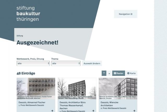 Webseite, Ausgezeichnet!, Bild: Stiftung Baukultur Thüringen