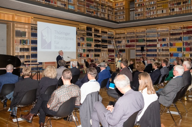 Preisverleihung Thüringer Staatspreis für Baukultur mit Chef der Staatskanzlei am 10. Sept. 2021, Bild: Foto Jannis Uffrecht, Weimar