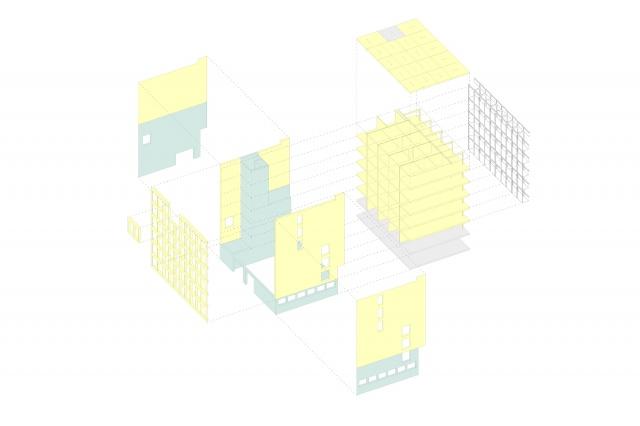 Das100, Diagram Konstruktion August 2021, Bild: Almannai Fischer: Reem Almannai, Florian Fischer Architekten PartG mbB, München